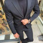 Aysoti Black Slim Fit Suit