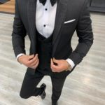 Aysoti Mooseville Black Slim Fit Shawl Lapel Tuxedo