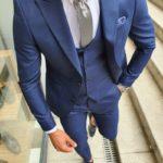 Aysoti Sax Slim Fit Suit