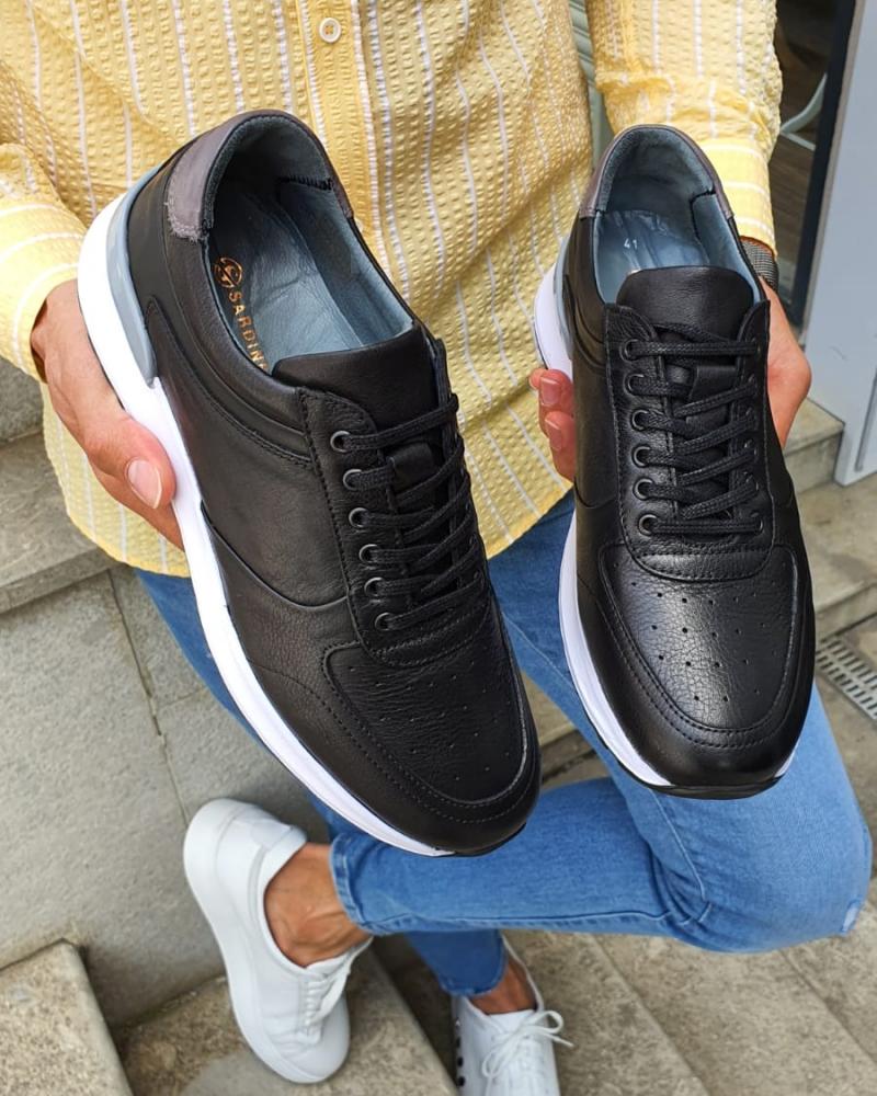Bellfast Aysoti Black Mid-Top Sneakers