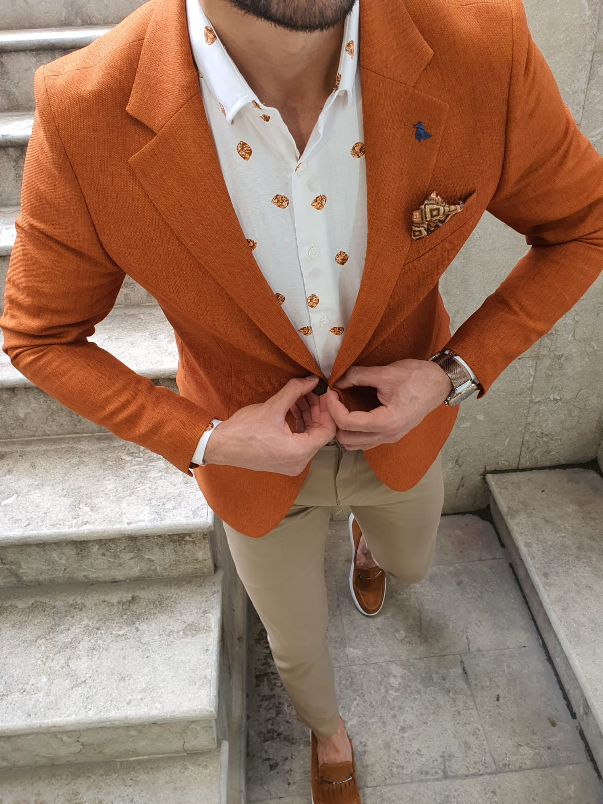 Aysoti Cinnamon Slim Fit Blazer