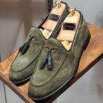 Bellfast Aysoti Khaki Suede Tassel Loafers