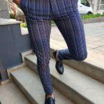 Aysoti Langred Sax Slim Fit Pinstripe Pants