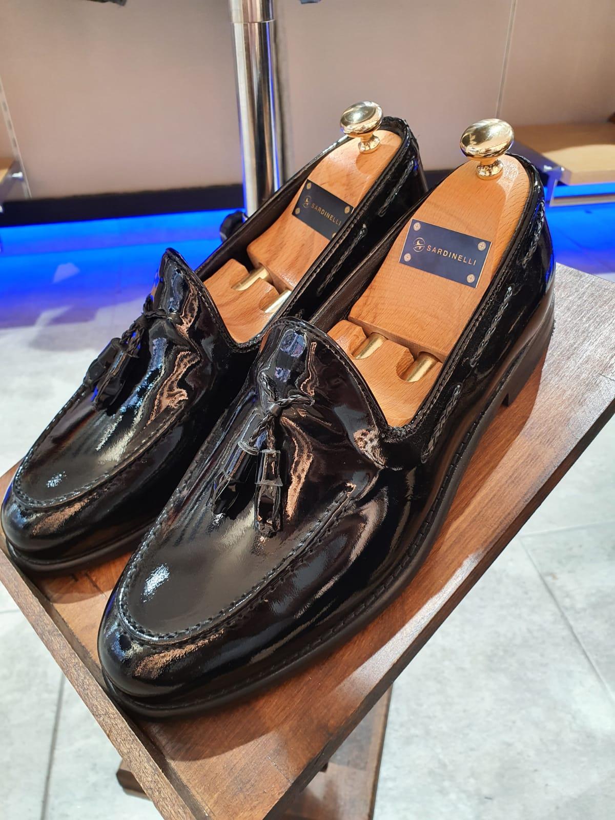 Aysoti Opallac Black Classic Tassel Loafer