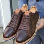 Aysoti Clifton Brown Lace Up Sneakers