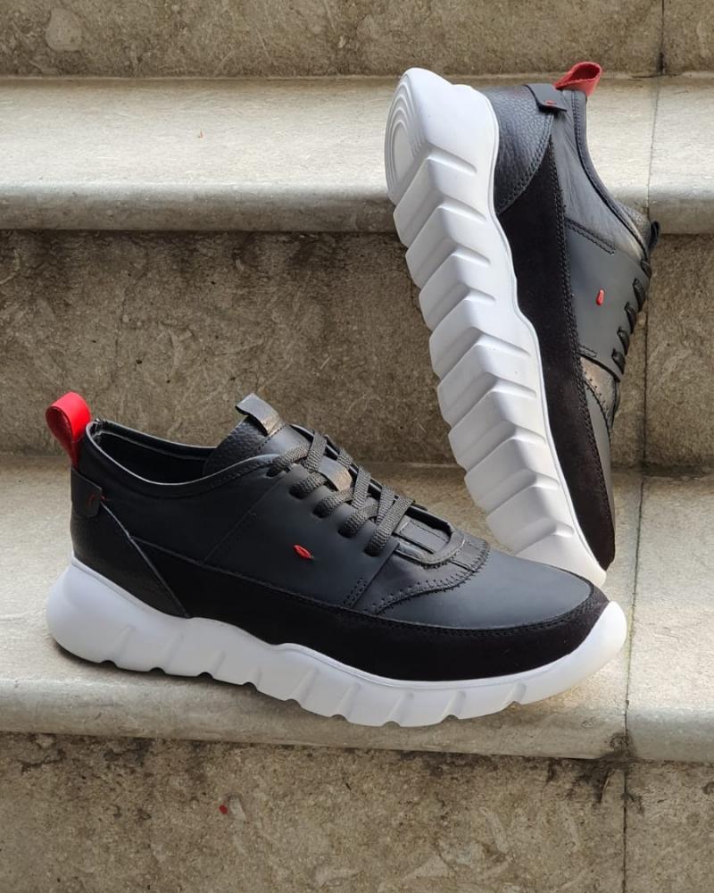 Varus cruise Aysoti Black Mid-Top Sneakers