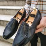 Aysoti Marav Black Double Monk Strap Loafer
