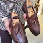 Aysoti Marav Brown Leather Tassel Loafer