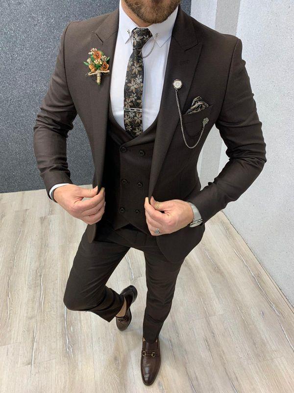 Lagos Coffee Slim Fit Suit