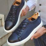Aysoti Navy Blue Lace Up Sneaker