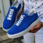 Bellfast Aysoti Sax Mid-Top Suede Sneaker