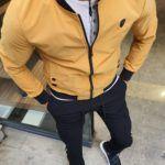 Aysoti Yellow Slim Fit Jacket