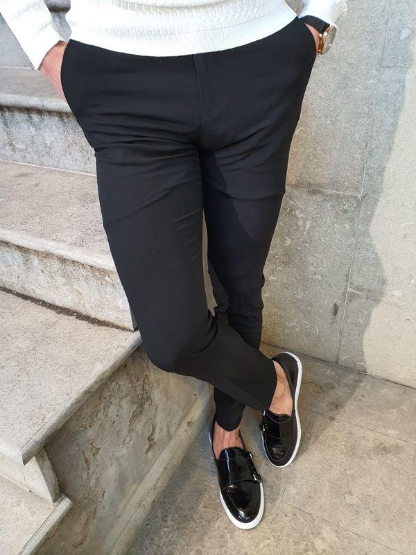 Aysoti Langred Black Slim Fit Pants