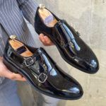 Aysoti Opallac Black Classic Double Monk Strap