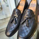 Aysoti Omalled Black Tassel Loafer