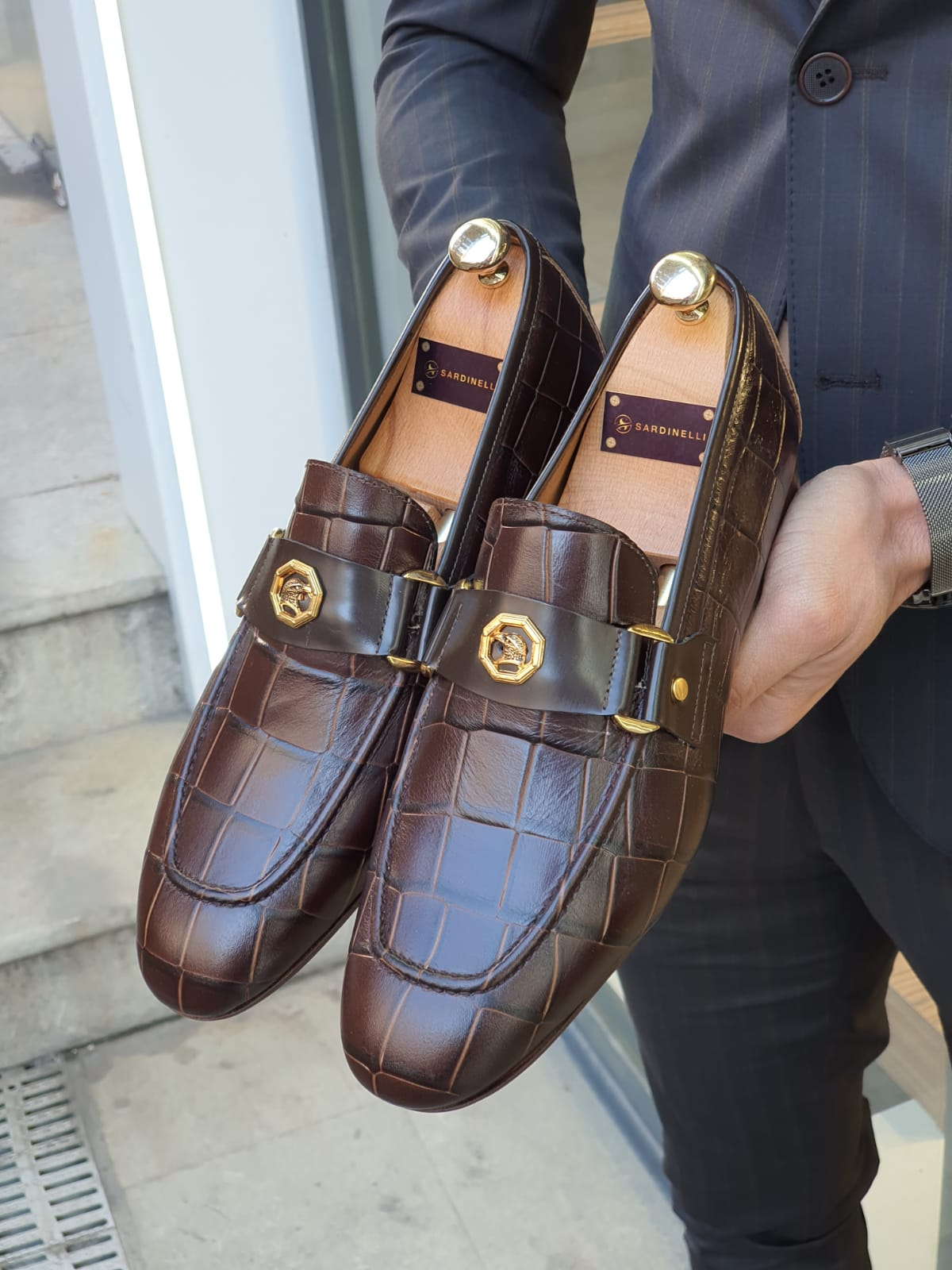 Aysoti Sellew Brown Leather Buckle Loafer