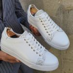 Aysoti Opallac White Lace Up Sneakers