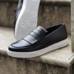 Bellfast Aysoti Black Kilt Loafers