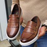 Bellfast Aysoti Brown Kilt Loafers
