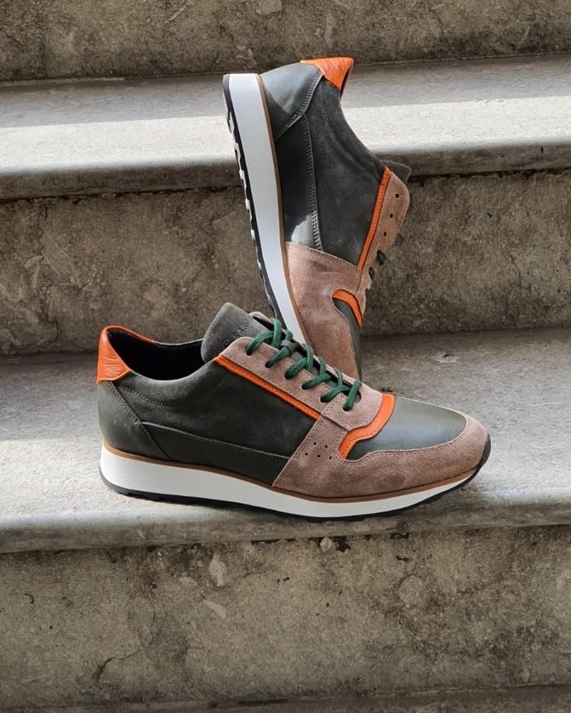 Bellfast Aysoti Brown Mid-Top Sneakers