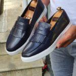Bellfast Aysoti Navy Blue Kilt Loafers