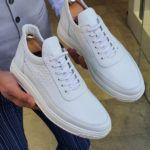 Aysoti White Lace Up Sneaker