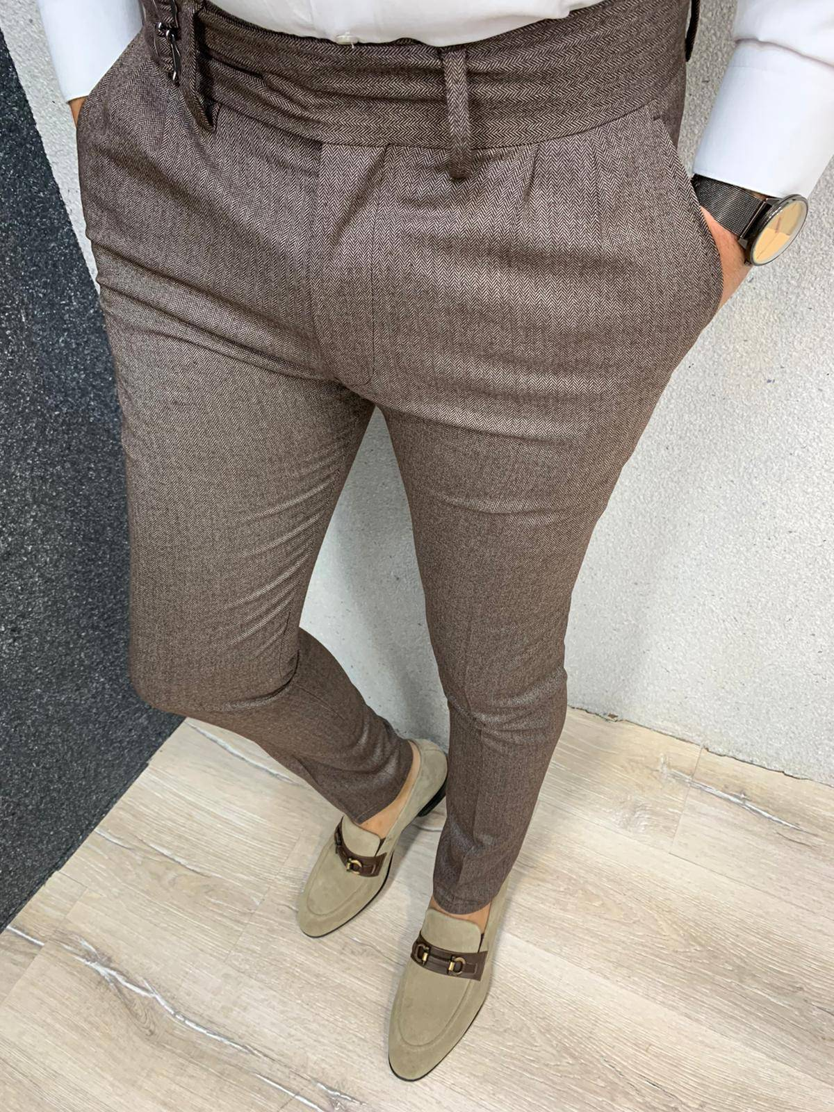 New Brown Canvas Pants