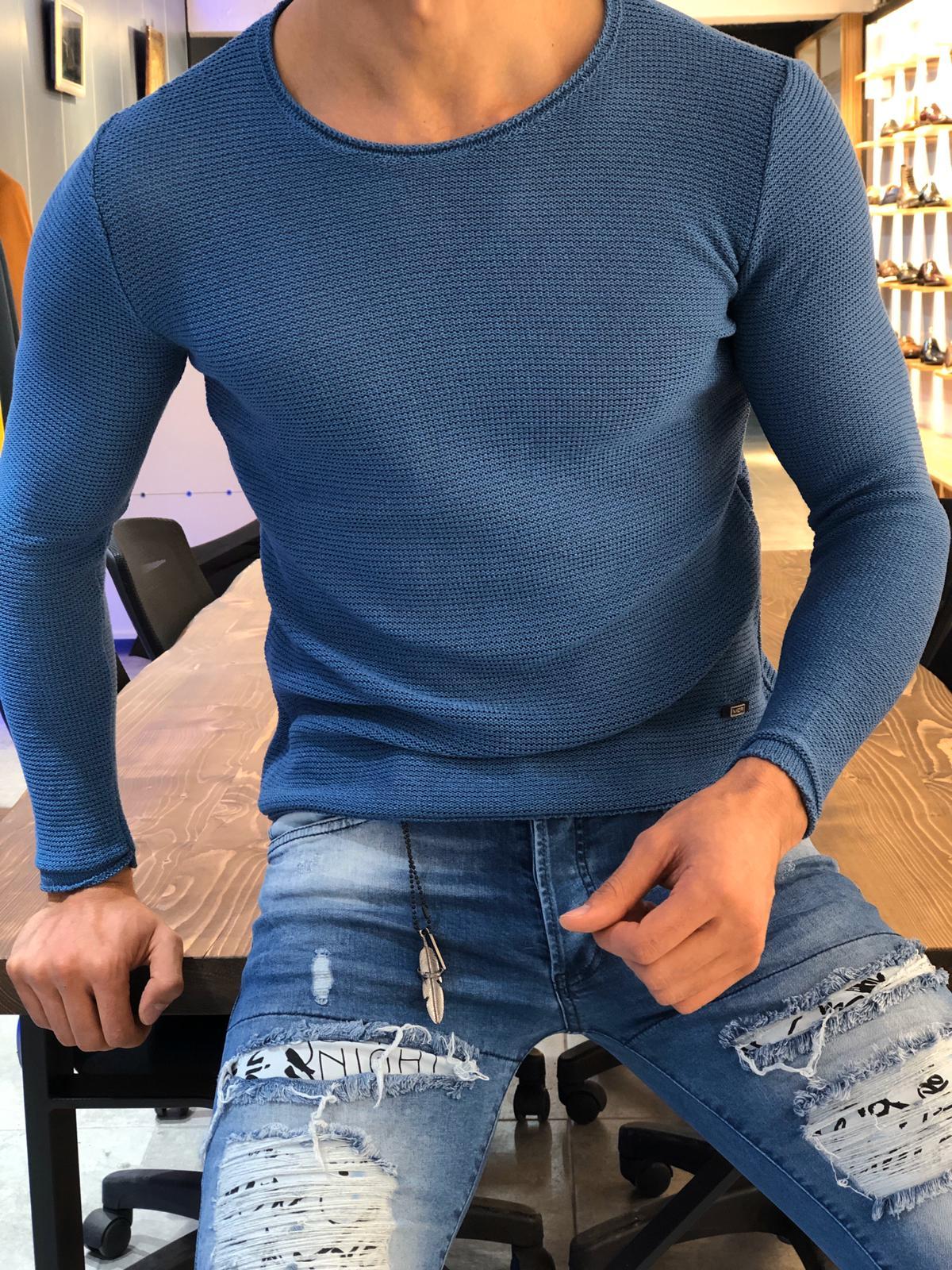 Slim-Fit turtleneck knitwear INDIGO