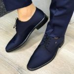 Bellfast Navy Blue Suede Shoes