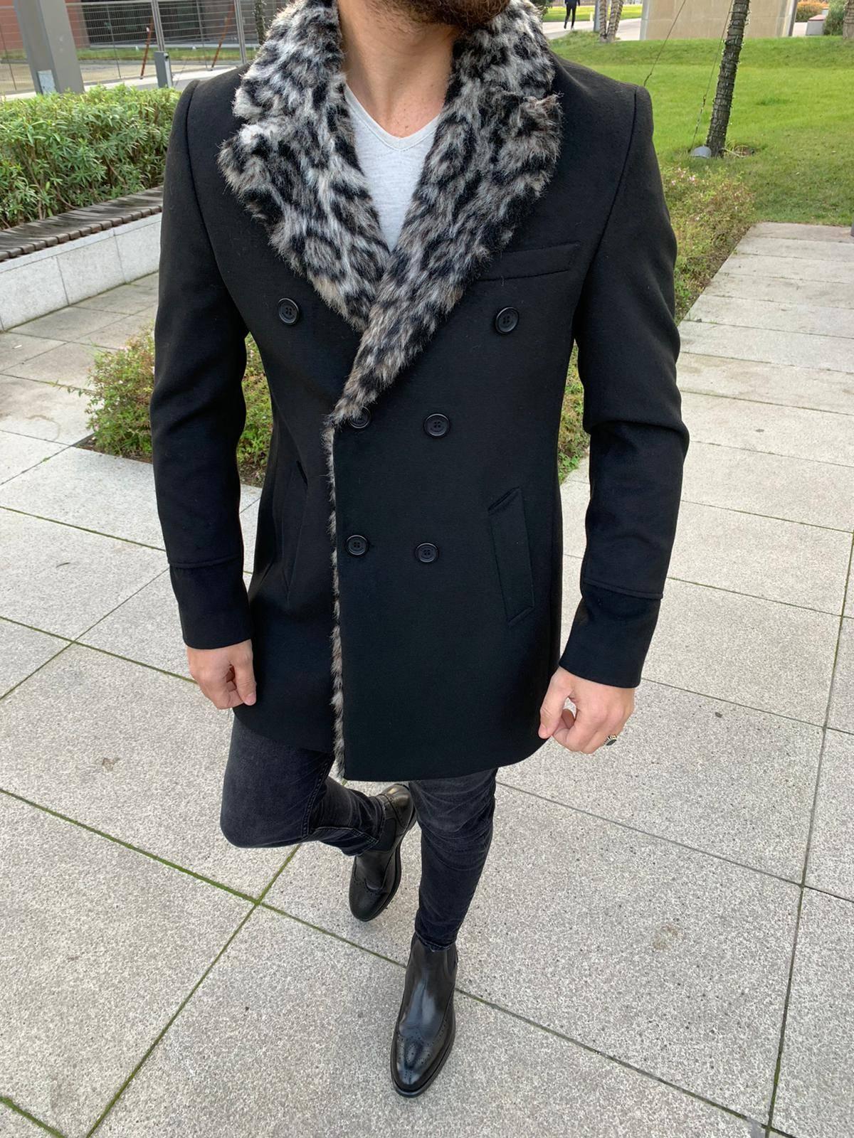 Austin Wool Black Coat