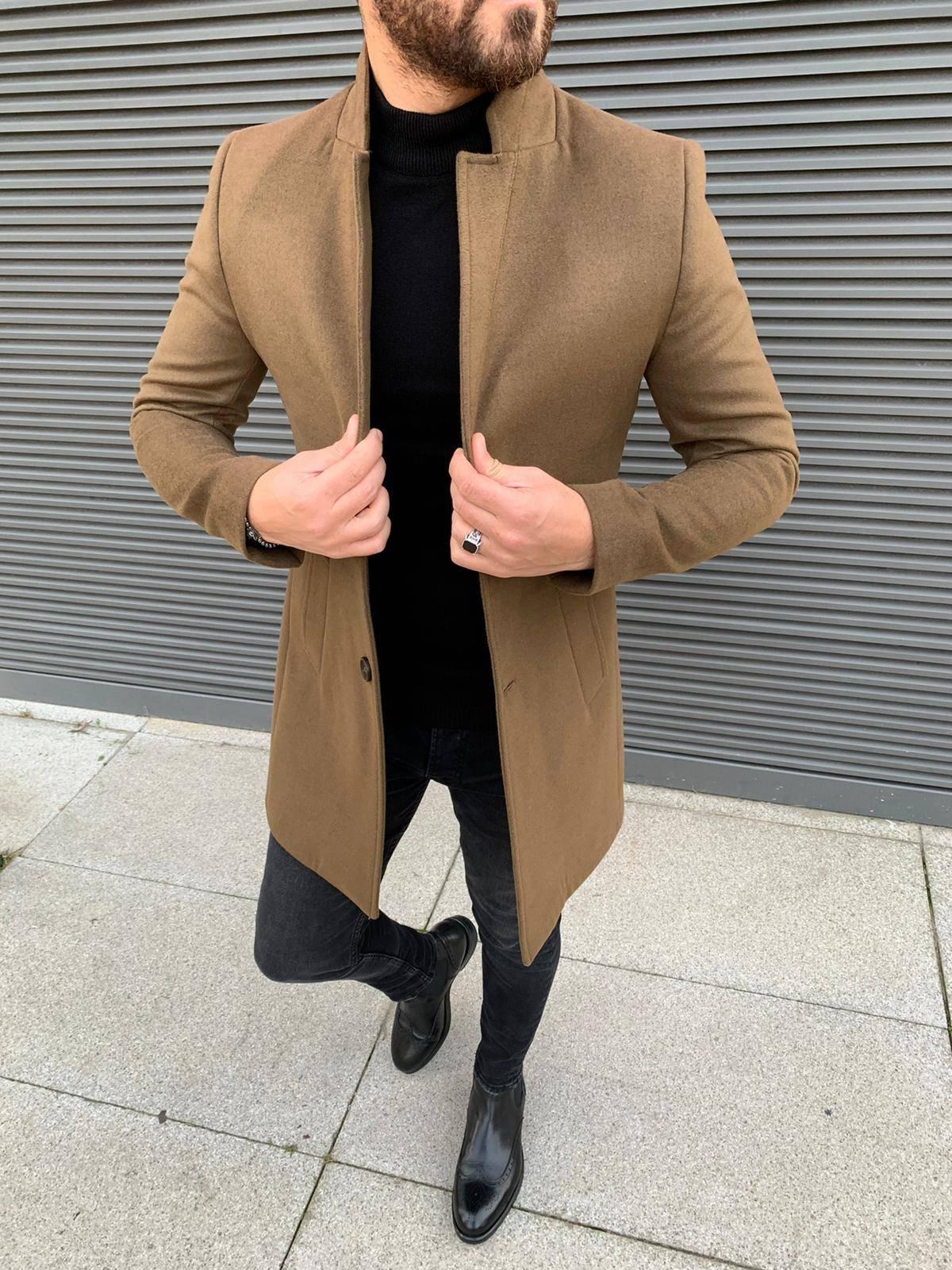 Austin cream slim fit coat