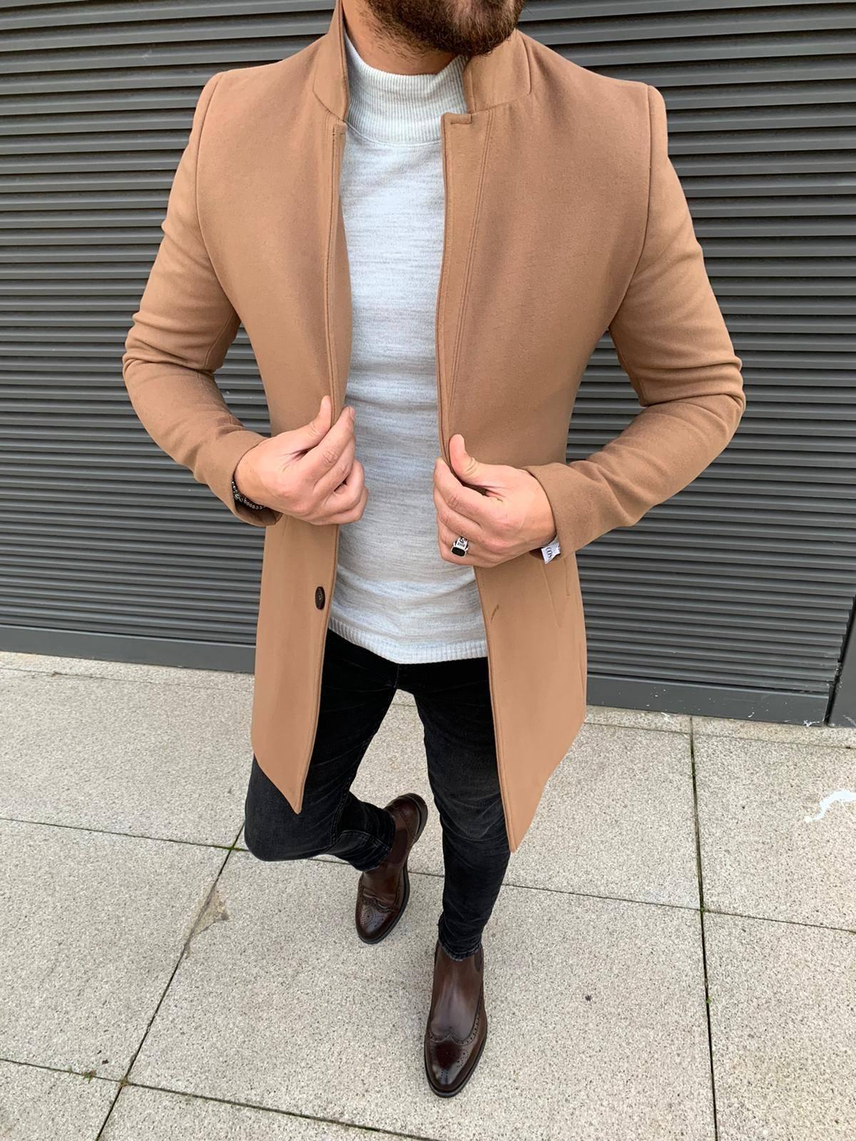 Austin Light Cream Slim Fit Coat
