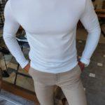Aysoti Anchorage White Slim Fit Round Neck T-Shirt