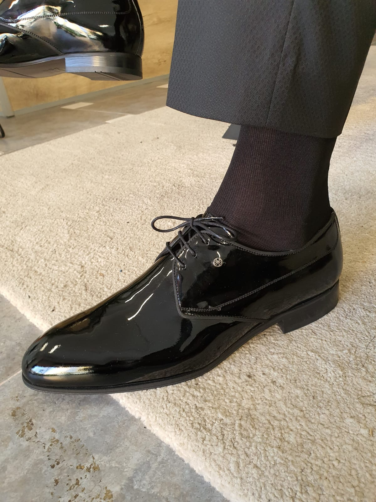 Aysoti Avallos Black Patent Leather Oxfords