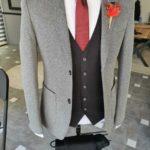 Aysoti Becksbourne Gray Slim Fit Suit