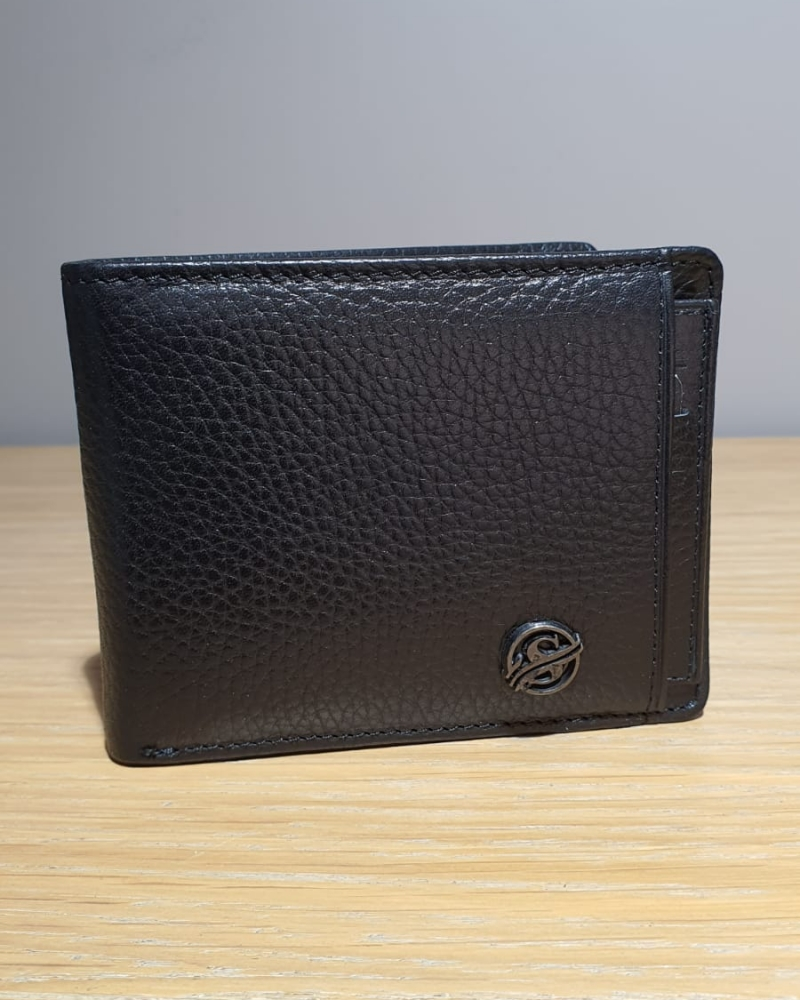 Aysoti Black Leather Wallet