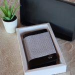 Aysoti Rosa Black Leather Wallet