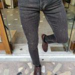 Aysoti Brandon Black Slim Fit Striped Jeans