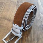 Aysoti Cinnamon Suede Leather Belt