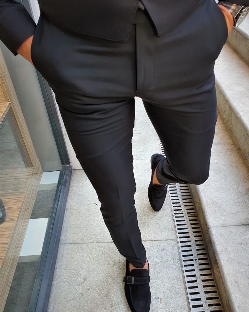 Aysoti Fayetteville Black Slim Fit Pants