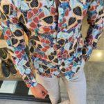 Aysoti Fayetteville Navy Blue Slim Fit Floral Shirt