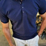 Aysoti Fayetteville Navy Blue Slim Fit Polo Shirt
