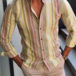 Aysoti Fayetteville Yellow Slim Fit Shirt