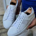 Aysoti Henderson White Mid-Top Laced Sneakers