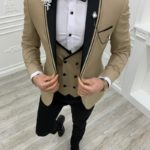 Aysoti Kingswood Gold Slim Fit Shawl Lapel Tuxedo