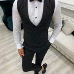 Black Slim Fit Shawl Lapel Tuxedo