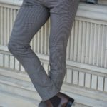 Aysoti Navak Gray Slim Fit Plaid Pants