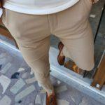 Aysoti Vermut Beige Slim Fit Pants