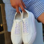 Aysoti White Laced Sneakers