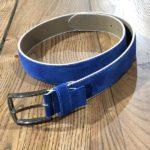Aysoti Suede Leather Belt – Sax